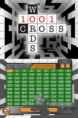 1001 Crosswords Released on DS
