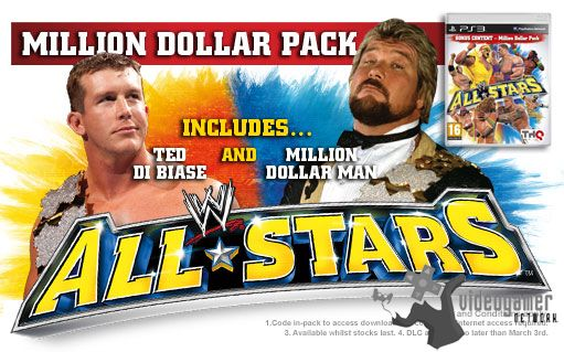 WWE All Stars - Million Dollar Pack Pre-Order Bonuses for UK Shoppers